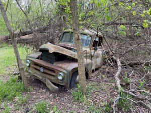old truck scrap metal